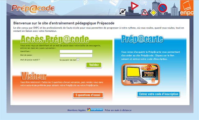 Code en ligne PrépaCode